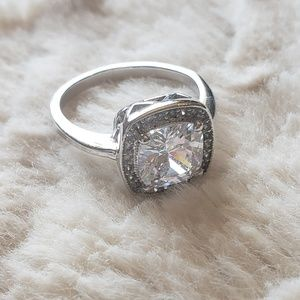 A faux diamond ring